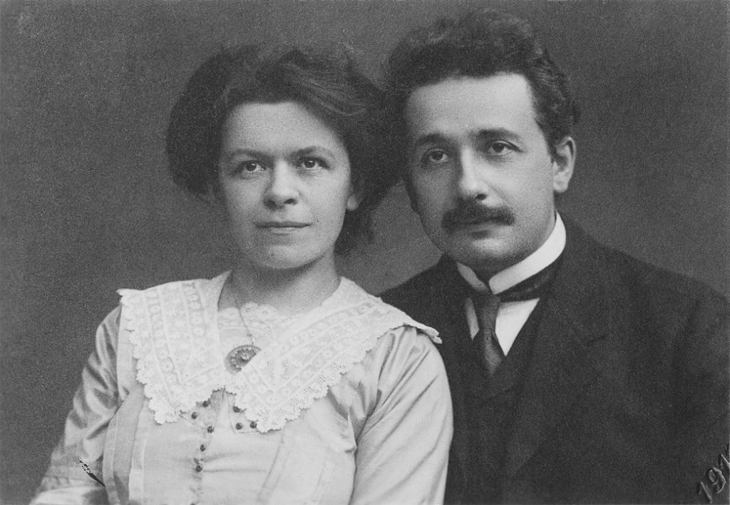 Albert Einstein with Mileva Maric - His Future Wife At The Time