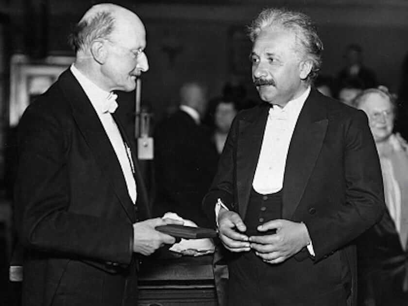 Einstein with Max Planck, in 1929