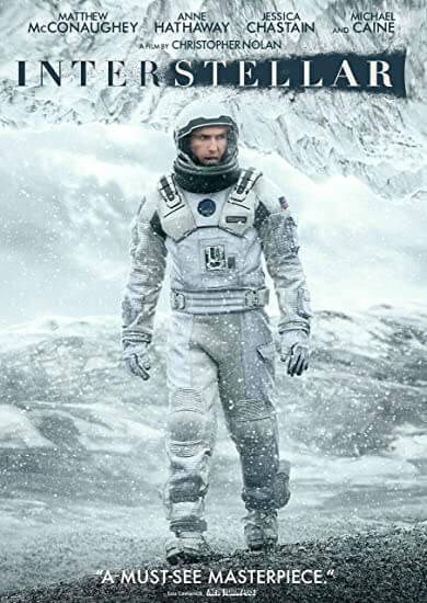 Interstellar Movie Poster (Best Space Movies)