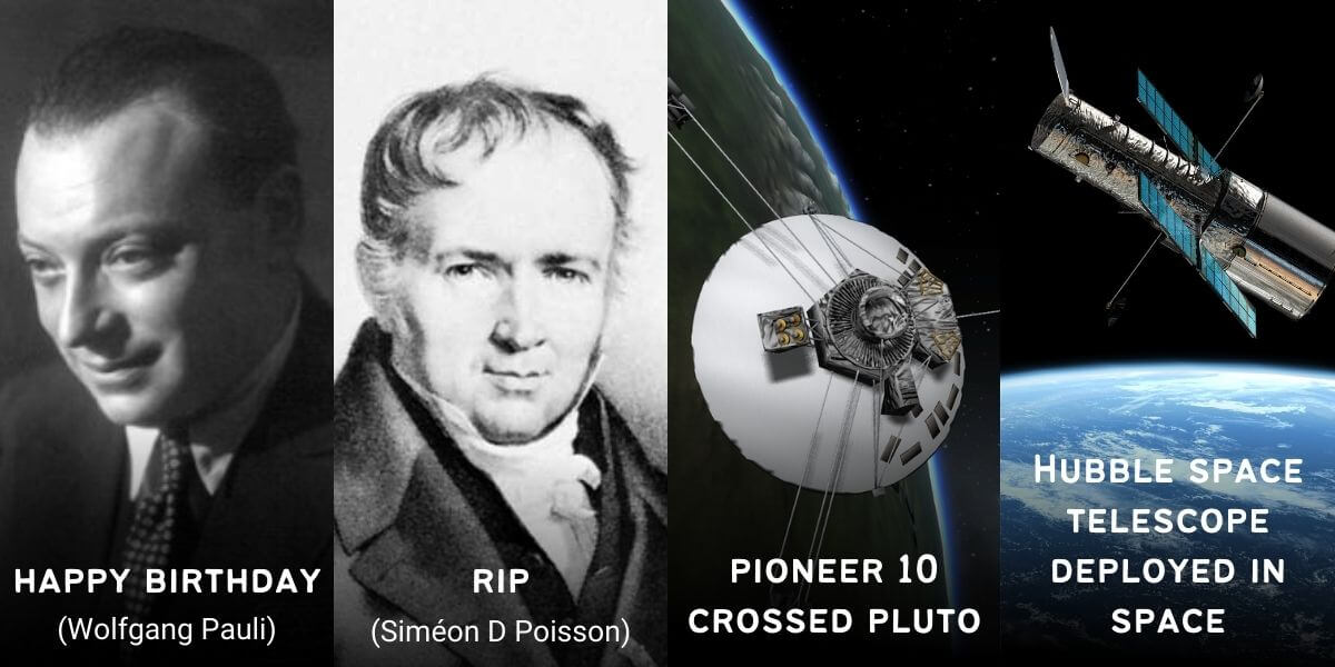 April 25 in Physics History: Birthdays, Deaths & Discoveries
