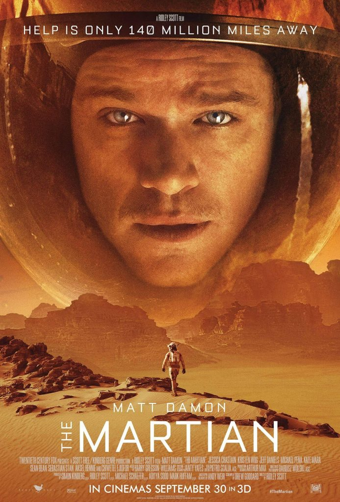 The Martian (2015) Movie Poster (Best Space Movies)