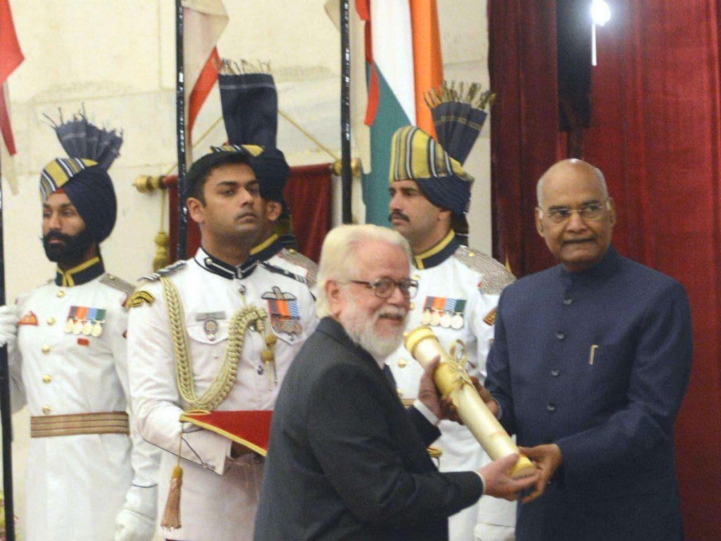 Nambi Narayanan Received Padam Bhusan From President Ram Nath Kovind