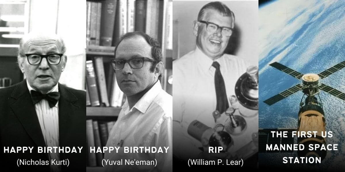 May 14 in Physics History: Birthdays, Deaths & Discoveries