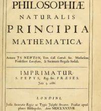 Isaac Newton Published The Principia